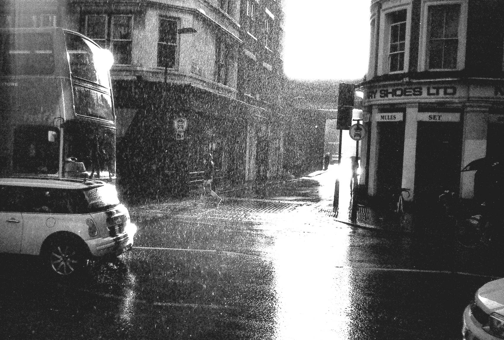 is raining! So what? | rainy london alley